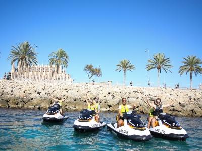 Alquiler moto de agua con licencia en Palma 2 h