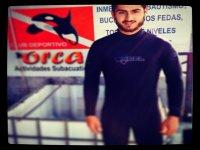 Nacho es uno de los miembros del equipo subacuatico