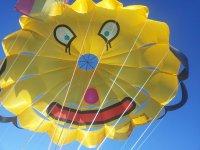 空中的空降伞运动