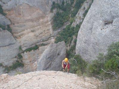 Vía Ferrata la Teresina en Montserrat expertos