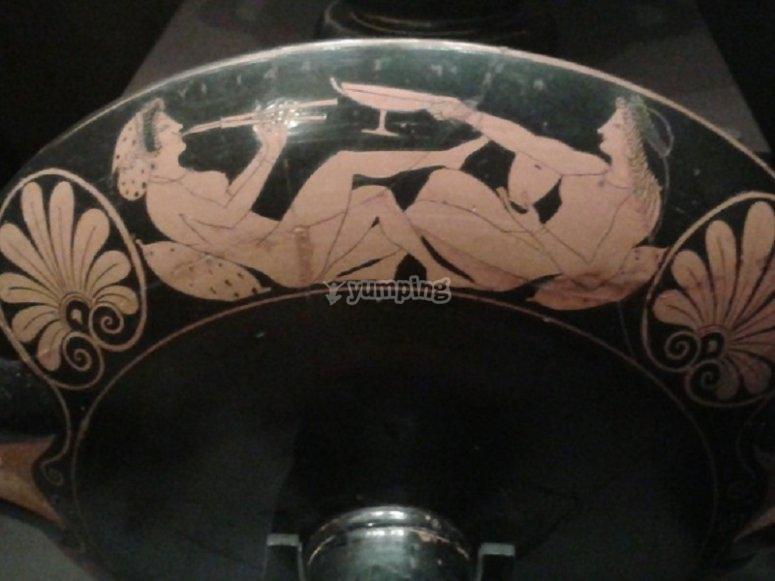 Representación de una fiesta griega