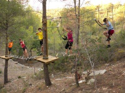 Adventure park in Benifallet for schools
