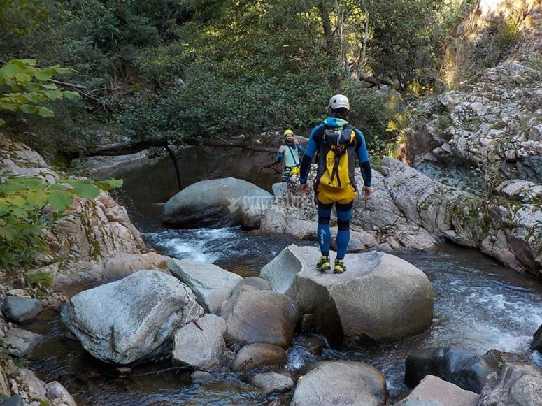 Canyoning in the Riera de Osor