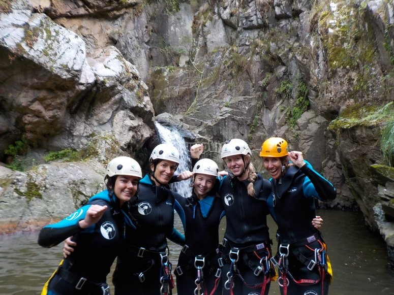 Canyoning in Riera de Osor
