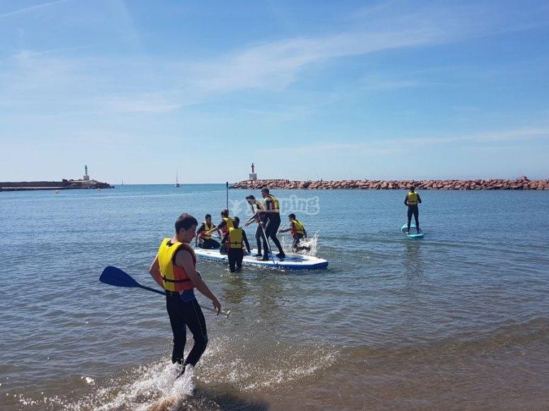 Stand up paddle en el agua