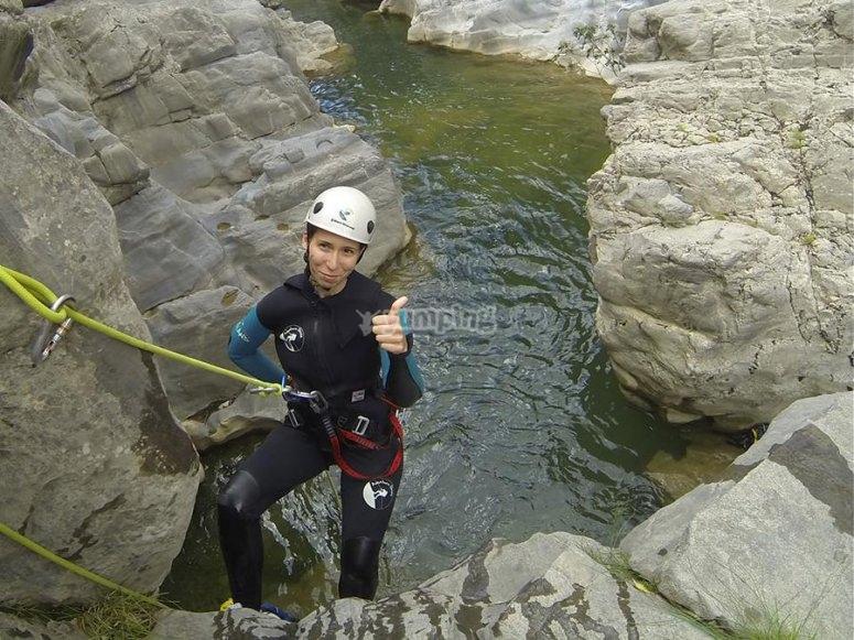 桑特Aniol登山运动Sant Aniol