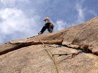 El escalador ha llegado a la cima