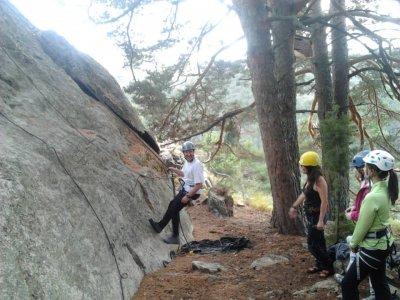 Bautismo de escalada en la Sierra de Guadarrama
