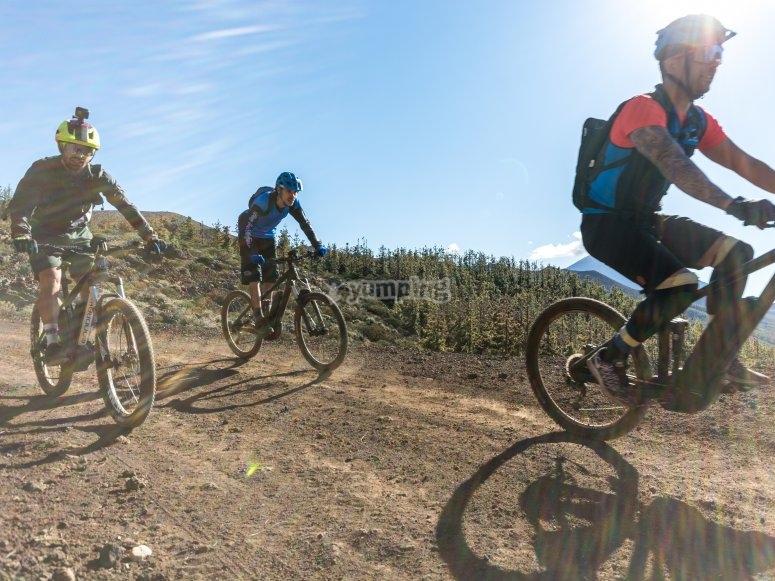 Ciclistas en Tenerife