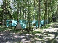 Tiendas de campaña en camping