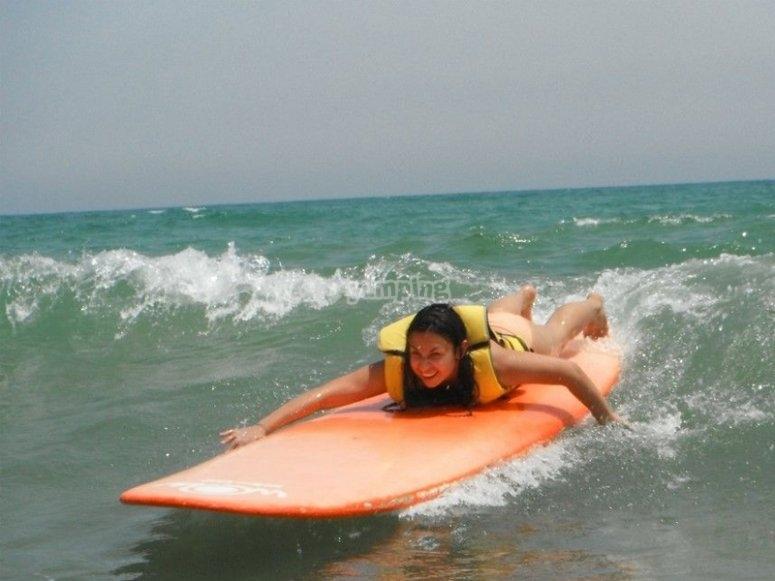 Clases de surf en Gandía