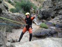 Rappelling in Somosierra ravine