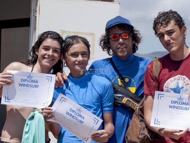 Studenti con il diploma
