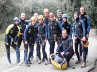 Equipped with group wetsuit