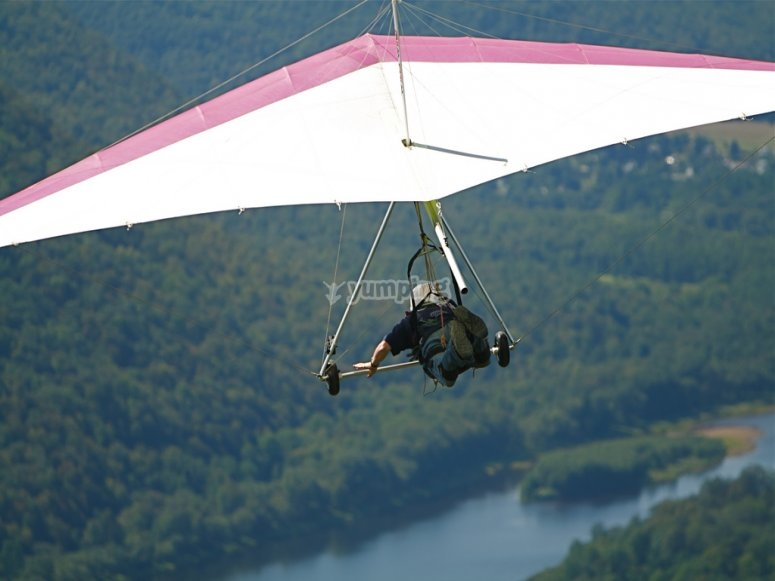 Flight on paraglide