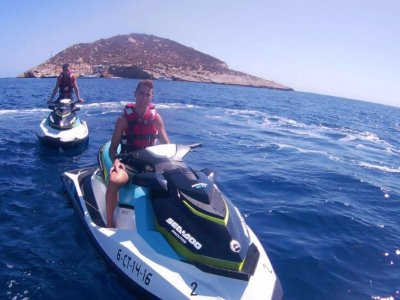 Ruta moto agua isla Sierra Helada y bahía Benidorm