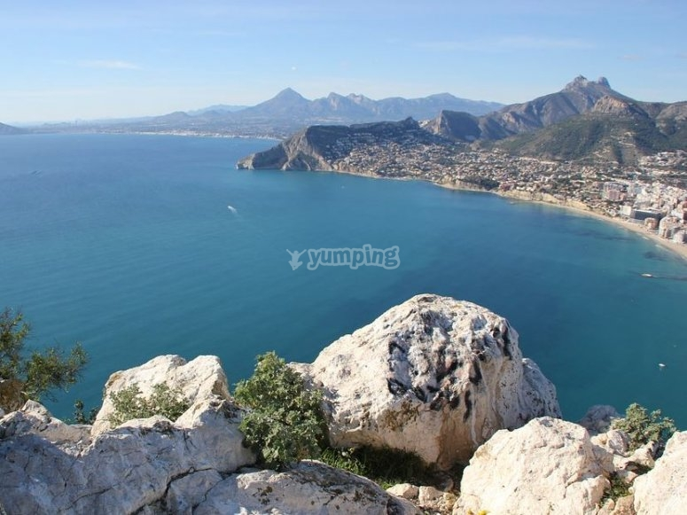 Views of Calpe from the rocks
