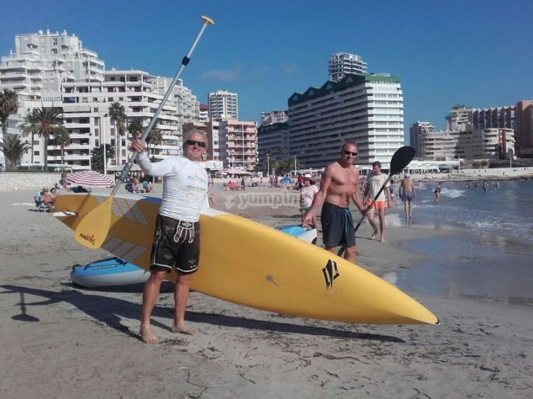 Paddle Surf baptism in Alicante
