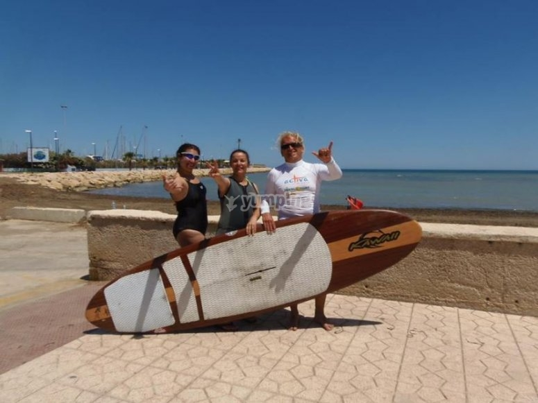 SUP en playas alicantinas
