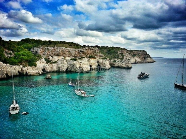 Veleros en Menorca