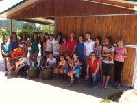 Grupo del campamento hipico
