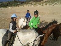 孩子们骑动物