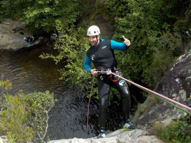 Rappel down the ravine