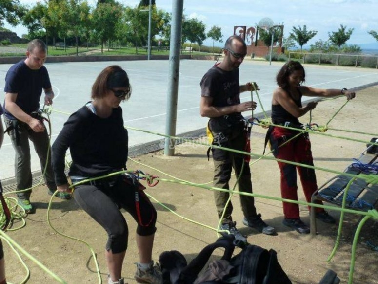Practicando con las cuerdas