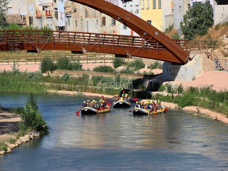 里科特河谷桥下的木筏