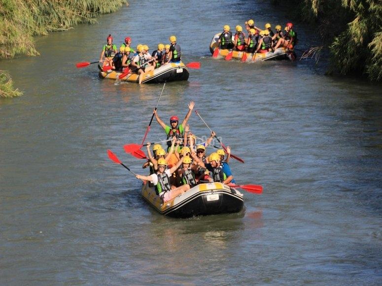 Zattere di rafting nel Valle Ricote