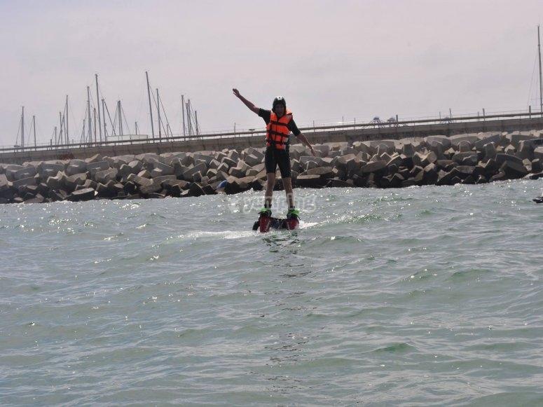 Flotando sobre el mar