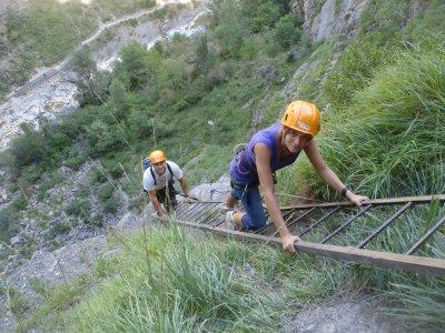 通过阿拉贡比利牛斯山脉的Ferrata