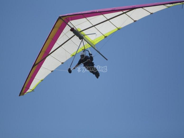 悬挂式滑翔机飞行