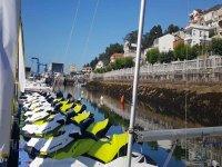Flota de motos de agua en Arousa