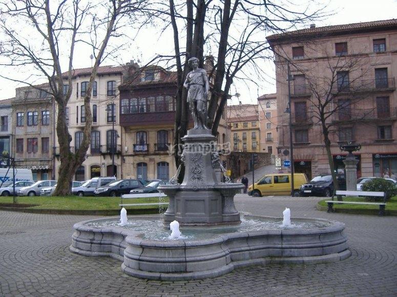 Estatua en el Parque del Muelle