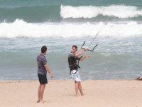 Leccion de kitesurf