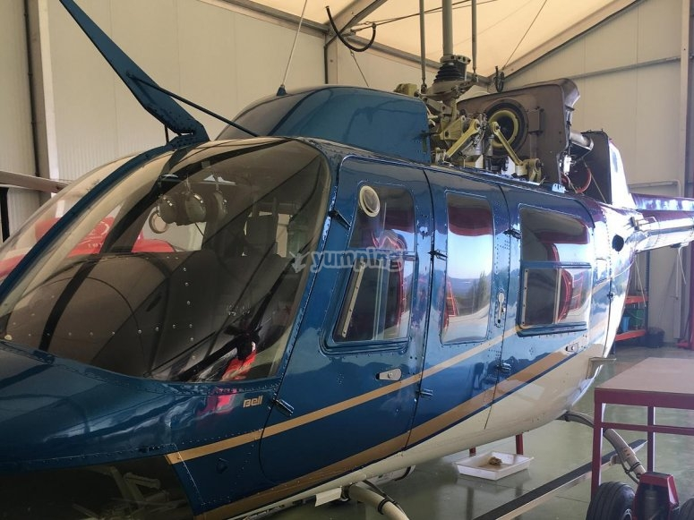 One of the helicopters