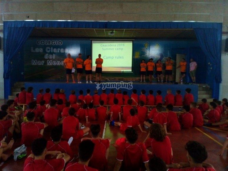 Presentacion del campamento