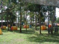 El campo de paintball
