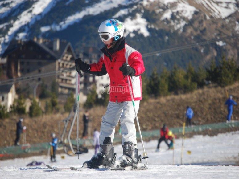 Clases junior de esqui
