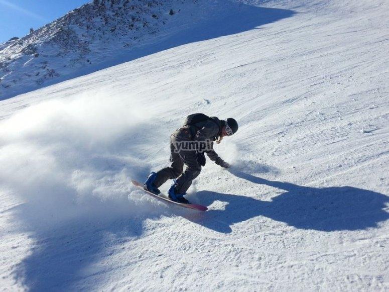 Practicando snow con estilo