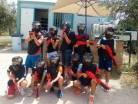Young paintballers