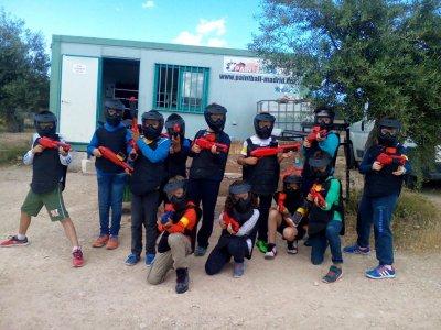 Paintball para colegios en Campo Real 100 bolas