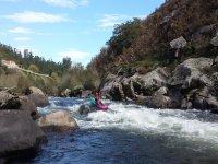 Kayak-Raft en el Ulla