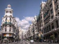 La gran via de Madrid