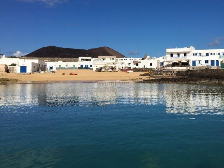 Vistas de isla La Graciosa