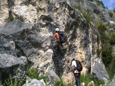 Iniciación vías ferratas en Moclín Granada