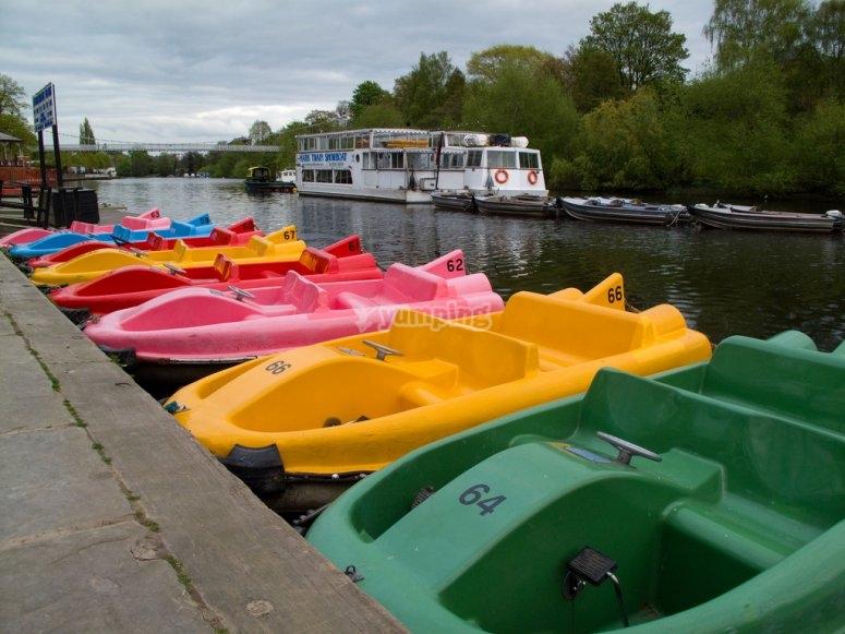 河里的脚踏船