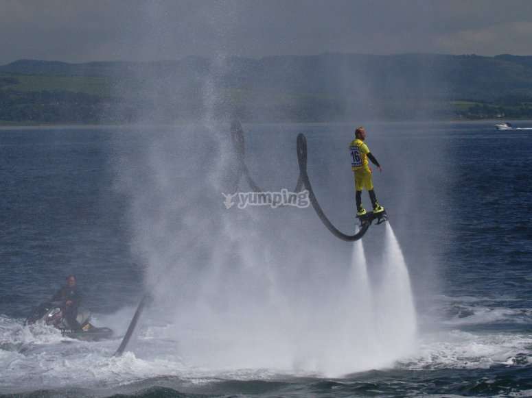 A day of flyboard in Ibiza