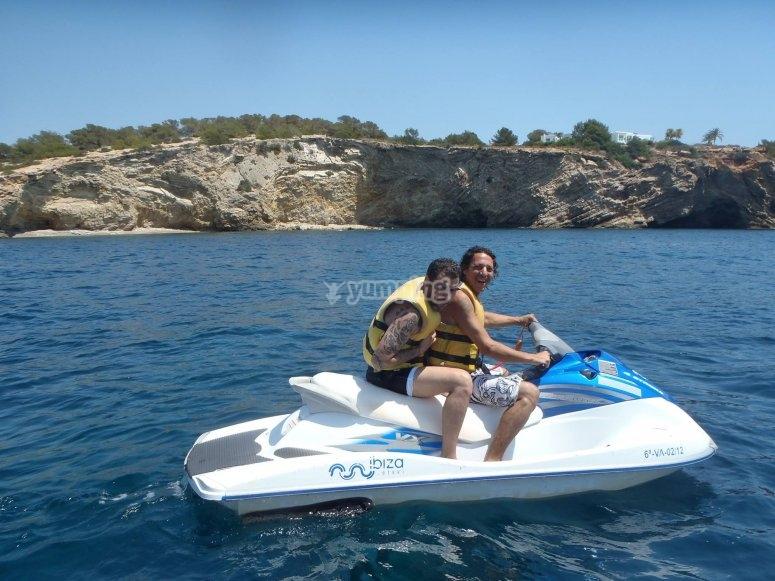 Moto acuatica en Ibiza